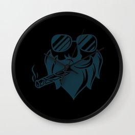 CIGAR SMOKING HIPSTER Cigar Aficionado Gift Cigar Smoker Wall Clock
