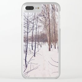 Hakuba trees Clear iPhone Case
