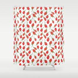 strawberry feild Shower Curtain