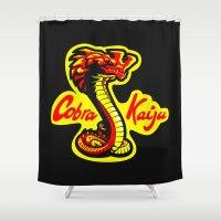 kaiju Shower Curtains featuring Cobra Kaiju by Tabner's