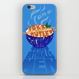 Pork Cutlet Bowl Fatale iPhone Skin