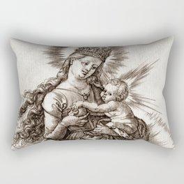 """Albrecht Dürer """"The Virgin with a Starry Crown"""" Rectangular Pillow"""