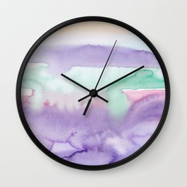 9    | Abstract Minimal Watercolor Painting | 191222 Wall Clock