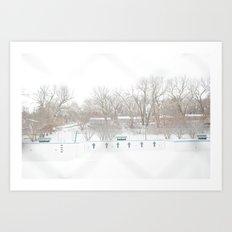 winterpool Art Print