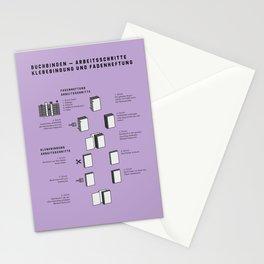 Buchbinden – Arbeitsschritte Klebebindung und Fadenheftung Stationery Cards