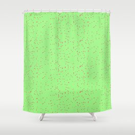 Green Lime Shambolic Bubbles Shower Curtain
