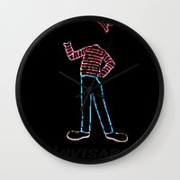 waldo Wall Clocks featuring Invisible Waldo by Chris Bey