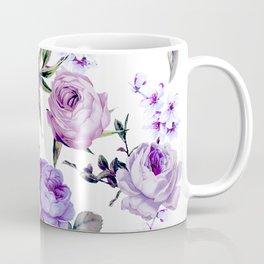 Elegant Girly Violet Lilac Purple Flowers Coffee Mug