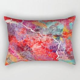 Little Rock map Arkansas painting 2 Rectangular Pillow