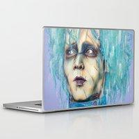 pastel goth Laptop & iPad Skins featuring Pastel Scissorhands by Anne Blondie Bengard