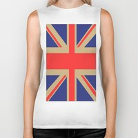 union jack Biker Tanks featuring Union Jack by MeMRB