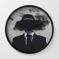psychology Wall Clocks featuring Shroud by James McKenzie
