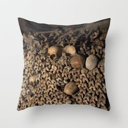 We Are All the Same in the End Throw Pillow