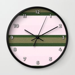 Pink Roses in Anzures 2 Stripes 3H Wall Clock