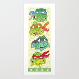 Teenage (a Little Too Mutated) Ninja Turtles Art Print