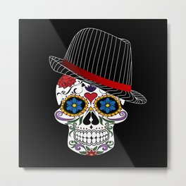 Hipster Modern and Trendy Skull Horror Metal Print