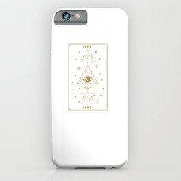 Tarot Card Crescent Moon and pyramid iPhone Case