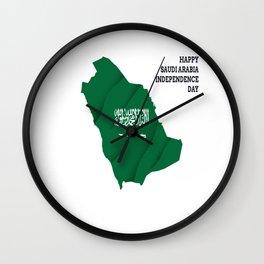 Happy Saudi Arabia Independence Day Wall Clock