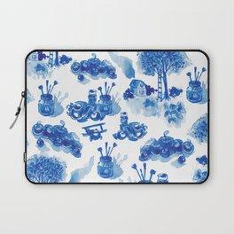 Summer history of watercolor in blue tones Laptop Sleeve
