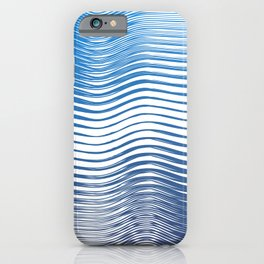 Boho Geometric Ocean minimal blue iPhone Case
