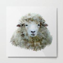 Sheep Animal Art Metal Print