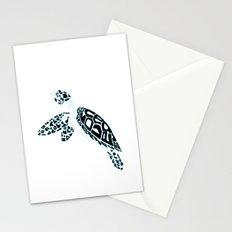 Calligram Sea Turtle Stationery Cards