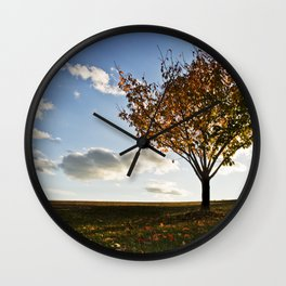 Perfect Fall Day  Wall Clock