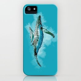 The beauty of a mothers love - Humpback Whales iPhone Case