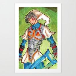 Fierce Diety Link Art Print
