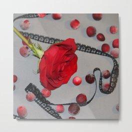 Petal Berries Metal Print