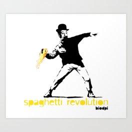 spaghetti revolution Art Print