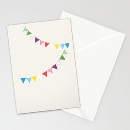 Flag garland Stationery Cards