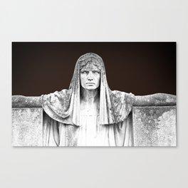The destiny goddess  - Art deco statue of woman with peplum Canvas Print