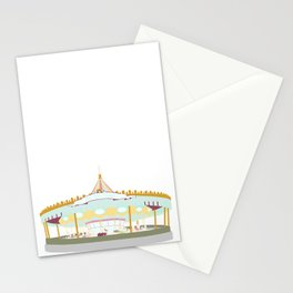 Carousel - white background Stationery Cards