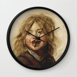 Frans Hals - Laughing Child Wall Clock