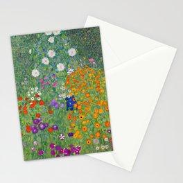 Gustav Klimt Flower Garden Floral Art Nouveau Stationery Cards