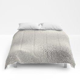 Simply Metallic in Silver Comforters