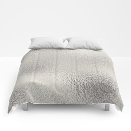 Simply Metallic in Silver Comforters