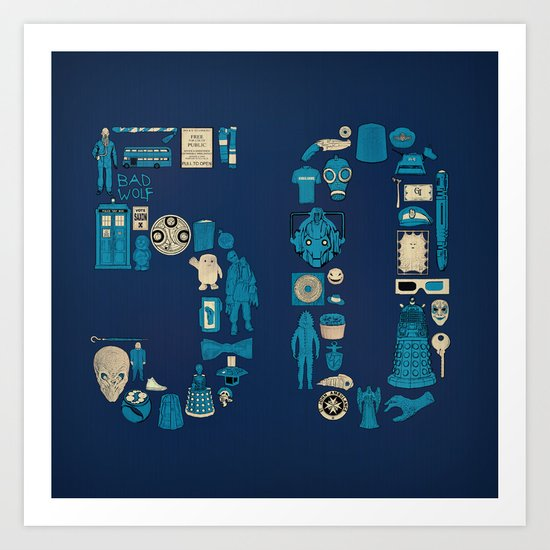 Fifty Art Print