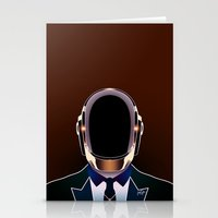 daft punk Stationery Cards featuring Daft Punk by Alli Vanes