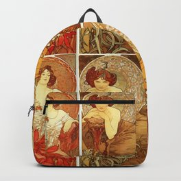 "Alphonse Mucha ""The Precious Stones (series)"" Backpack"