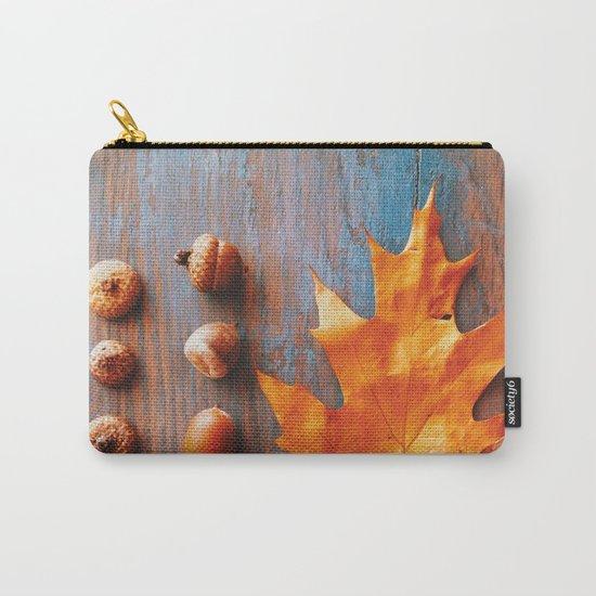 Little Autumn Acorns Carry-All Pouch