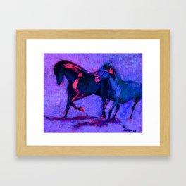 duo bleu Framed Art Print