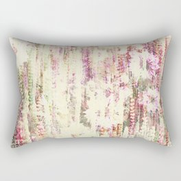 Abstract floral pattern in pink and yellow Rectangular Pillow