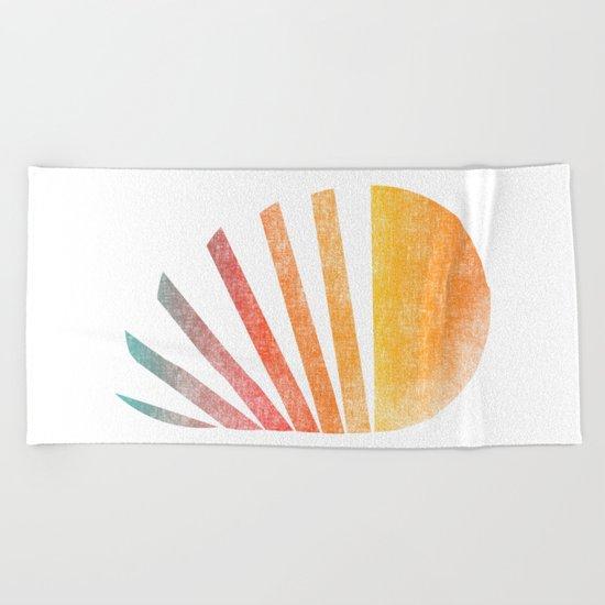 Raising sun (rainbow-ed) Beach Towel