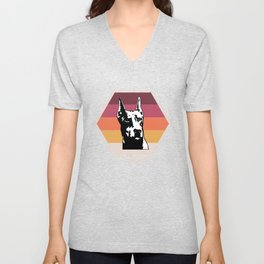 Doberman Tee Shirt Unisex V-Neck