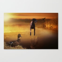 All Creatures In Peace Canvas Print