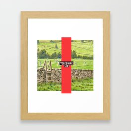 Yorkshire Lad Framed Art Print