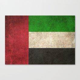 Old and Worn Distressed Vintage Flag of United Arab Emirates Canvas Print