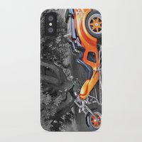 motorbike iPhone & iPod Cases featuring Three-wheeled Motorbike by Lynn Bolt
